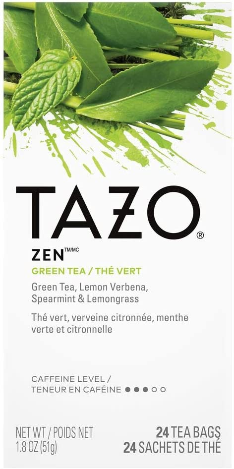 Tazo Zen Filter Bag Tea, 24-Count Packages (Pack of 6) by TAZO: Amazon.es: Alimentación y bebidas