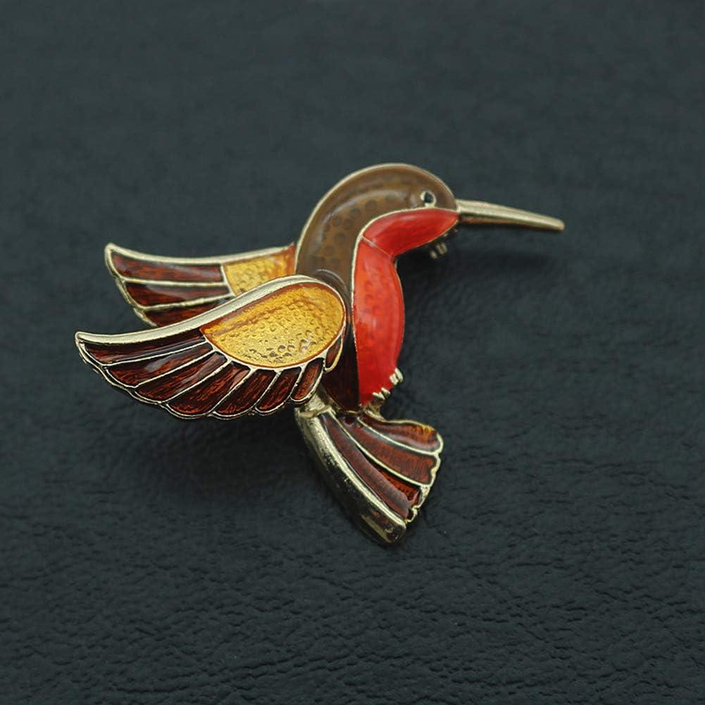 Brooch Pin,Maserfaliw Jewelry Brooch Breastpin,Retro Bird Brooch Pin Collar Enamel Badge Women Jeans Hat Scarf Clothes Jewelry Golden