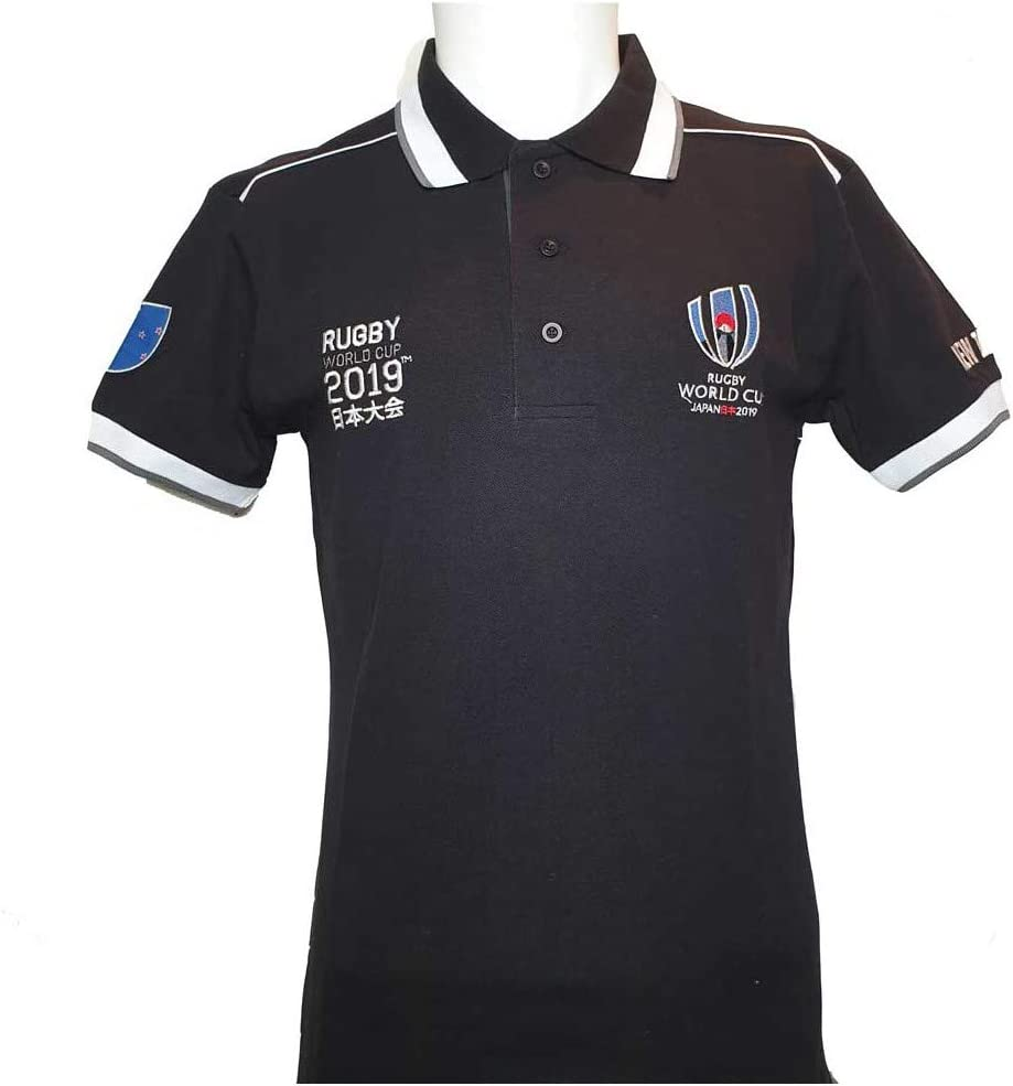 Polo New Zealand Coupe du Monde DE Rugby 2019 Collection Officielle Rugby World Cup Taille Homme