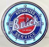 Buick Service 15'' Neon Light Clock Sign Parts Garage Emblem Logo GSX Blue