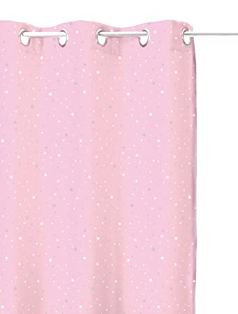 Blackout Curtain Star Light Pink For Childrenu0027s Room