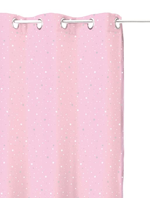 finest rideau occultant rose clair toil pour chambre enfant amazonfr cuisine u maison with rideau chambre bebe fille - Rideau Chambre Bebe Etoile