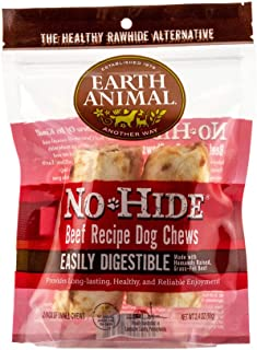 product image for Earth Animal Small No-Hide Dog Chews - Made in The USA, Natural Rawhide Alternative Treats (Beef, Small - 2 Chews)