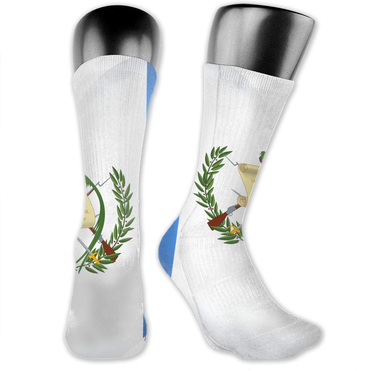 OLGCZM Heart of Guatemala Flag Men Womens Thin High Ankle Casual Socks Fit Outdoor Hiking Trail