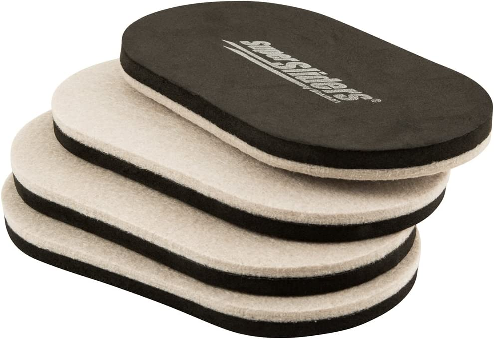 "SuperSliders 4705295N Reusable XL Heavy Furniture Sliders for Hardwood Floors- Felt Floor Protectors, 9-1/2"" x 5-3/4"" Linen (4 Pieces)"