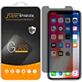 [2-Pack] Supershieldz for Apple iPhone X Privacy (Anti-Spy) Tempered Glass Screen Protector, Anti-Scratch, Anti-Fingerprint, Bubble Free - Lifetime Replacement Warranty