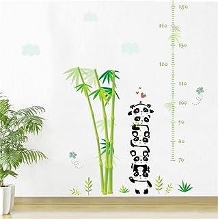 Guooe Stickers Toise Murale Enfant, Mignon Panda Bambou Tableau De Croissance Stickers Muraux Pour Enfants Chambres De Bande Dessinée Animaux Hauteur Mesure Stickers Muraux Décor À La Maison Bricolage
