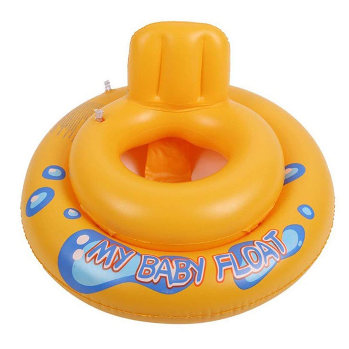 Delicacydex Dibujos Animados Bebé Flotador Espesar PVC Inflable Círculo Cámara de Aire Doble Asiento de la Piscina Flotador Barco Juguete acuático Seguridad ...