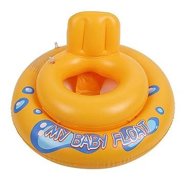 ... Cámara de Aire Doble Asiento de la Piscina Flotador Barco Juguete acuático Seguridad Niños Anillo de natación - Amarillo: Amazon.es: Juguetes y juegos
