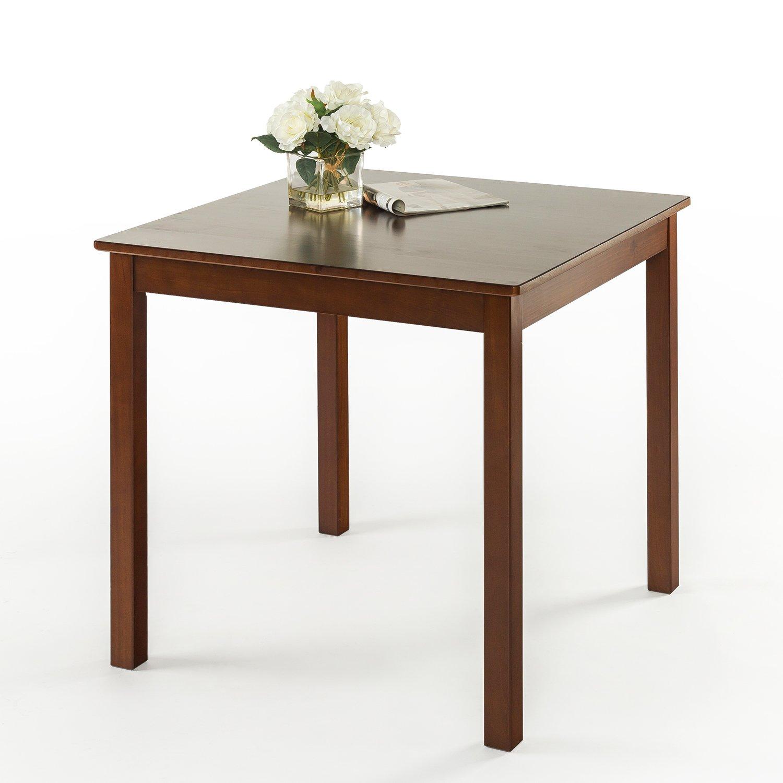 Zinus Espresso Wood Square Dining Table