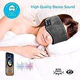 XuBa Bluetooth Sleeping Eye Mask Headphone Travel Sleeping Headphone Eye Mask Handsfree Music Sleep Eye Shades Built-in Speakers Microphone