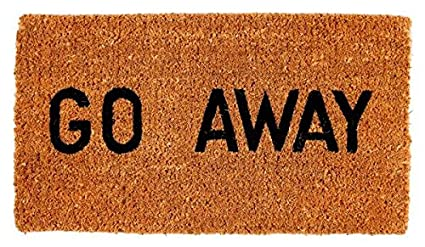 amazon com kempf go away doormat 16 by 27 by 1 inch funny door