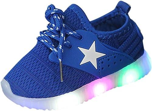 WINJIN Enfants Garçon Fille LED Lumineuse Chaussures