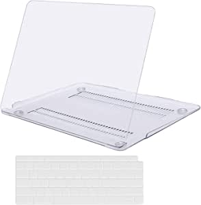 MOSISO MacBook Air 13 inch Case 2020 2019 2018 Release A2179 A1932 with Retina Display, Plastic Hard Shell Case & Keyboard Cover Only Compatible with MacBook Air 13 with Touch ID, Crystal Clear