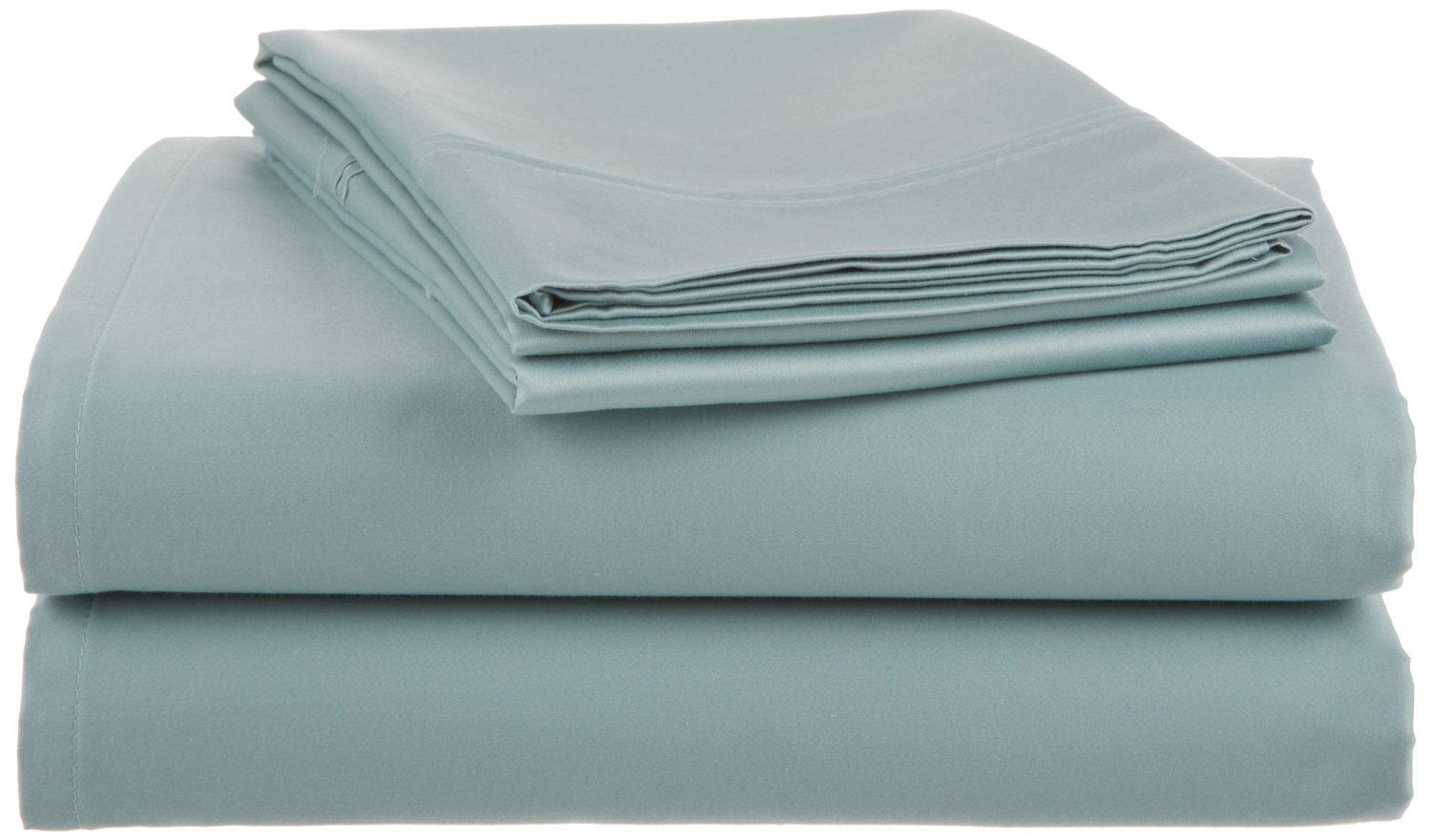 Crowning Touch 500 Thread Count Wrinkle-Resistant Cotton Sheet Set, King, Aqua Blue