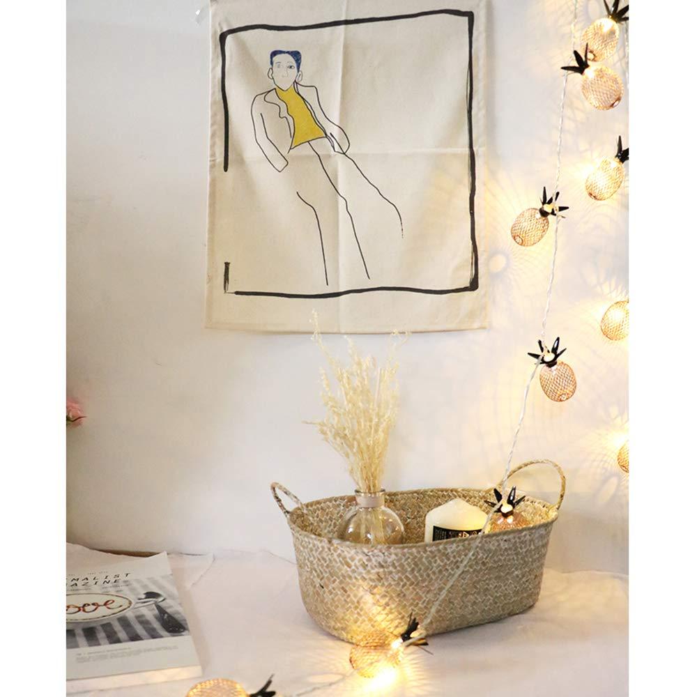 1.5M 10LED Lumi/ères Decoration Murale Chambre Mariage F/ête Noel C/ér/émonie Anniversaire Cadeau Saint-Valentin Guirlande Lumineuse Ananas Blanc Chaud A Piles
