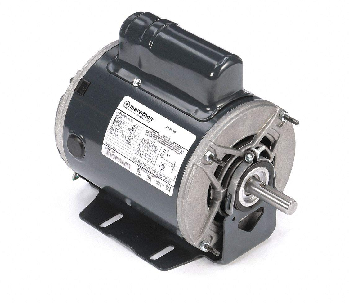 Marathon CG230 56 Frame Open Drip Proof 5KC46LN0158 Belt Drive Motor, 3/4 hp, 1725 RPM, 115/208-230 VAC, 1 Split Phase, 1 Speed, Ball Bearing, Resilient Ring Mount