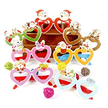 43674ee87c18 cheap4uk Christmas Novelty Glasses Christmas Party Favours Photo Booth  Props Fancy Dress Glasses for Children Kids