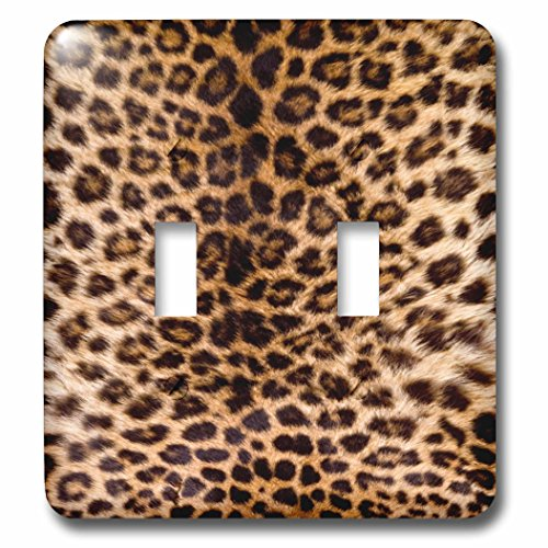 3dRose TDSwhite - Patterns Designs - Leopard Print Photo - Light Switch Covers - double toggle switch (lsp_285216_2)