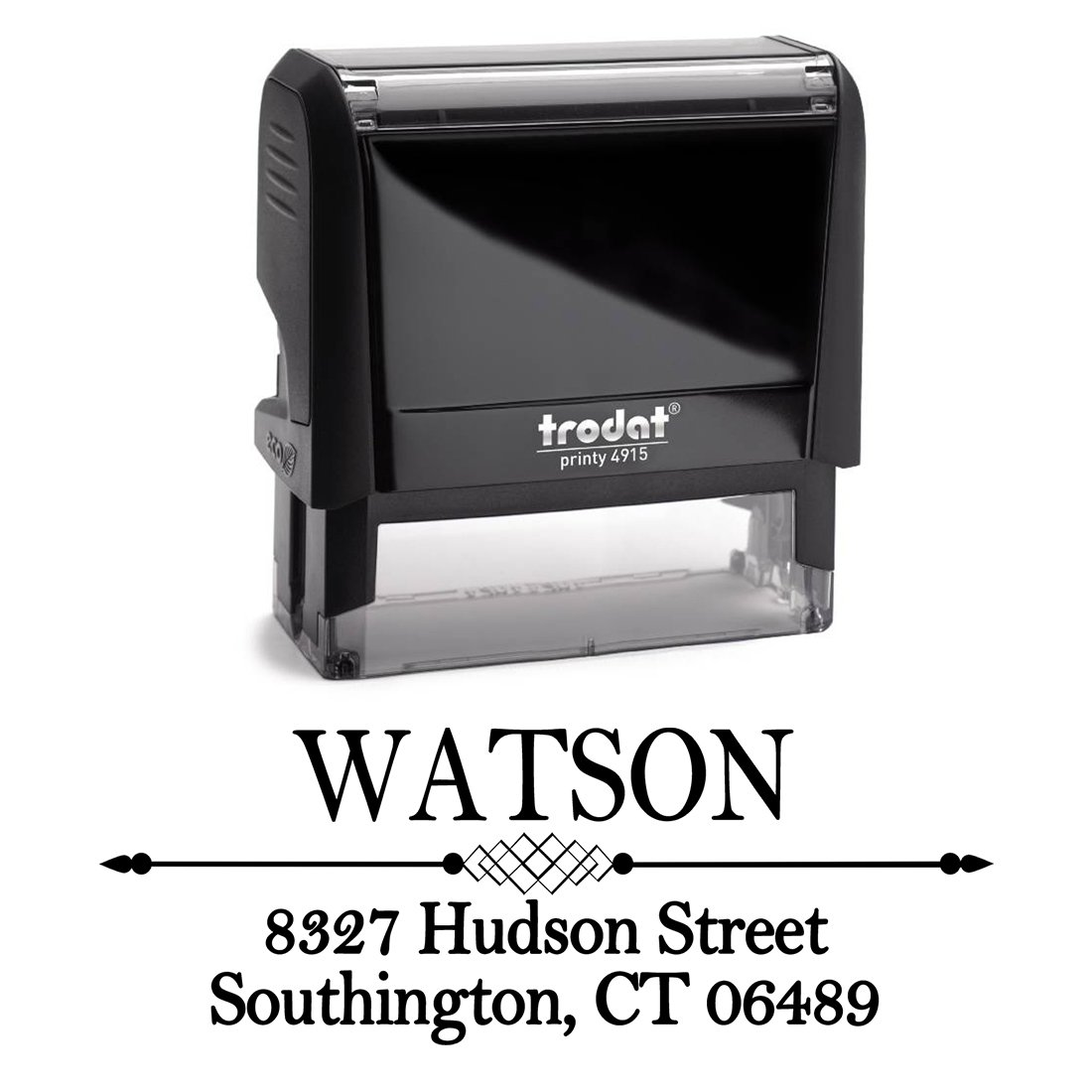 Black Self Inking Stamp Black Return Address Mail Stamper Custom Personalized Address Large 3 Lines Professional Wedding Gift Invitation Branding