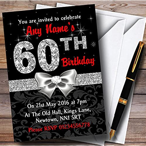 60th Birthday Invitations Amazon Com