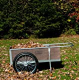 Garden Cart with Pneumatic Wheels - Medium Size (Wood/Steel) (20 1/4''H x 21 1/2''W x 52 1/2''D)