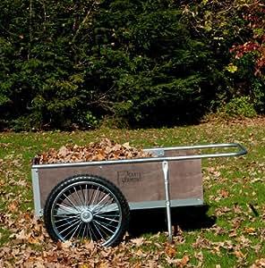 """Garden Cart with Pneumatic Wheels - Medium Size (Wood/Steel) (20 1/4""""H x 21 1/2""""W x 52 1/2""""D)"""