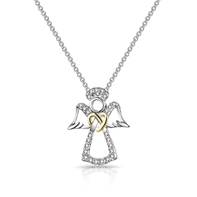 372123f3a Philip Jones Guardian Angel Necklace Created with Austrian Crystals: Philip  Jones: Amazon.co.uk: Jewellery