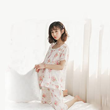 540124b0ad7453 Amazon   マタニティ パジャマ 夏 授乳服 妊婦服 前開き 授乳パジャマ ...