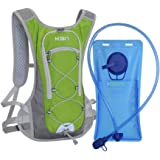KBNI Hydration Backpack with 2 Litre (68 Ounce) Water Bladder, Lightweight, Suitable for Outdoor Hiking Running Cycling…