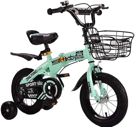 K-G Bicicleta Infantil Bicicleta Plegable de Infantil Adaptado a 2 ...