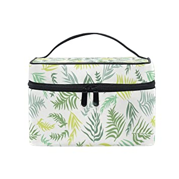 7504d648b713 Amazon.com : Fresh And Beautiful Palm Leaves Travel Makeup Cosmetic ...