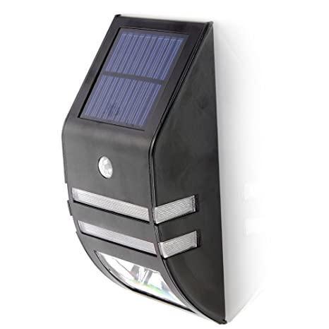 Lámpara solar con detector de movimiento, 2 ledes solar lámpara de pared/ sensor de