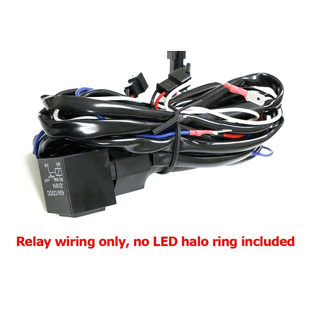 Ijdmtoy Angel Eyes Halo Rings Led Or Ccfl Relay Harness 2006 Tahoe Q7 Fuse Box With Fade On Off Features For Bmw Using Oem Key Automotive