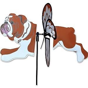 "ENGLISH BULLDOG Petite Garden Wind Spinner by Premier Kites & Designs-17.25"" L"