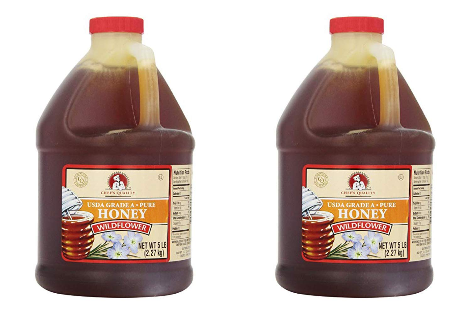 Chef's Quality: Wildflower Honey 80 Ounces (2 Pack)