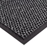 Notrax 136 Polynib Entrance Mat, for Lobbies and Indoor Entranceways, 4' Width x 6' Length x 1/4'' Thickness, Charcoal