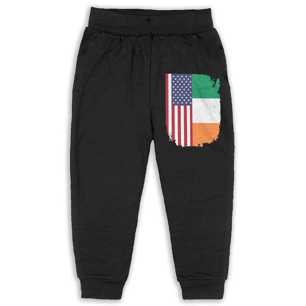 Udyi/&Jln-97 American Irish Flag Unisex Kid Toddler Pants Soft Cozy Boys /& Girls Jogger Play Pant