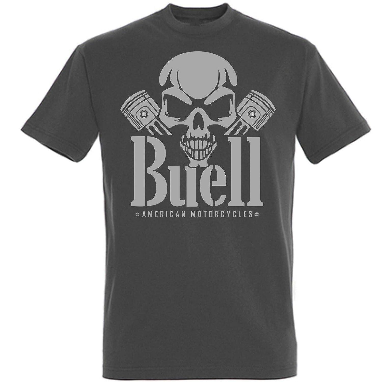 T-Shirt Fashion Man Buell American Motorcycles S M L XL XXL 3XL Skull Piston NEU