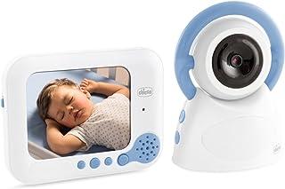 Chicco 00009328000000 Video Baby Monitor Deluxe 254, Bianco/Azzurro
