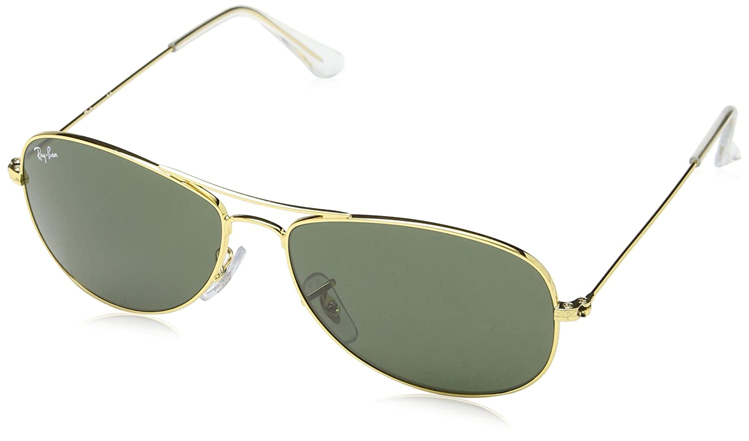 6f6238692b3 Amazon.com  Ray Ban Rb3362 Cockpit Gold Frame Green Lens Metal Sunglasses
