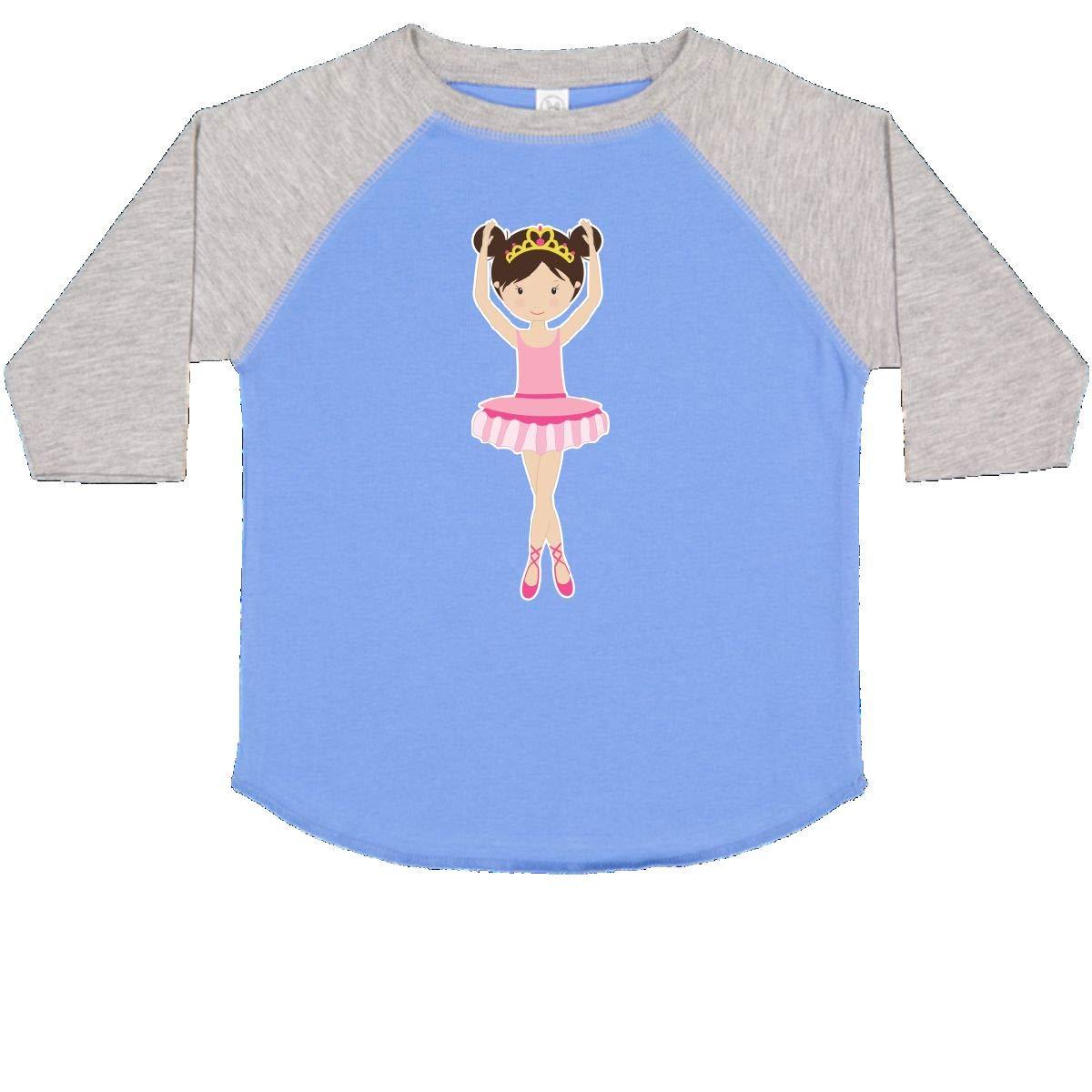 inktastic Ballerina with 2 Buns Toddler T-Shirt
