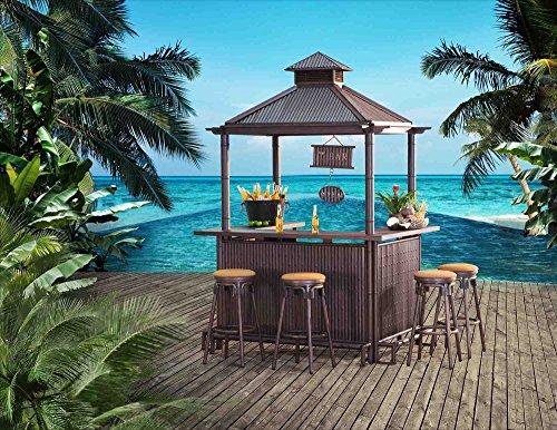 Sunjoy L-DN202SAL-A-T Maximilian Tiki Bar