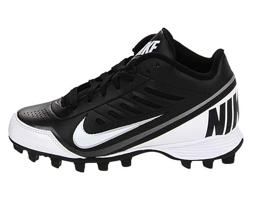 Nike Boy's Black/White Land Shark 3/4 BG Football Cleat US 4Y
