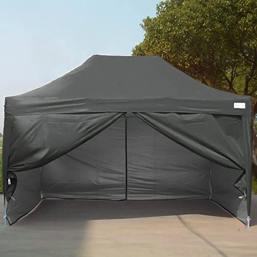 Quictent 3x45 Meter Black Easy Pop Up Tent Gazebo Outdoor Party With Silver