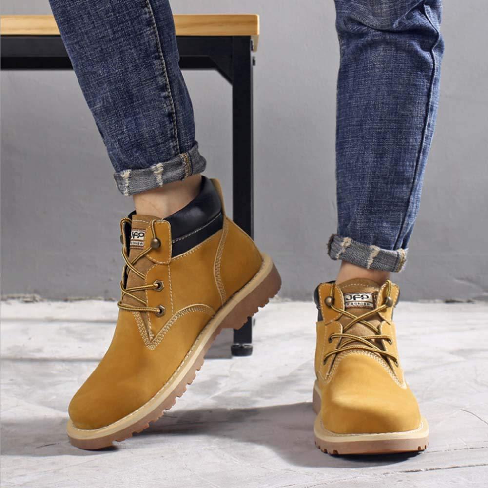 Herren Stiefeletten Martin Stiefel Mode Mode Mode Lässig Arbeitskleidung Stiefel Hohe Hilfe Schrubben Leder Trends Große Größe Stiefel Männer 9e6323