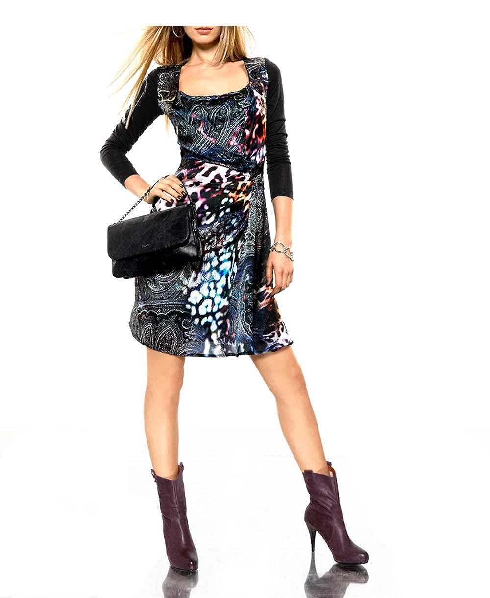 PATRIZIA DINI Damen-Kleid Seidenkleid Mehrfarbig Größe 44