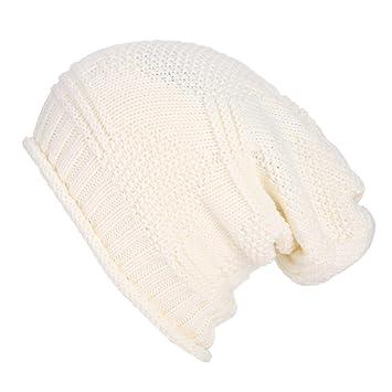 9350091d8dd3e Koly Crochet mujeres invierno gorro lana Tejer Beanie casquillos calientes  6 colores Hombres Mujer Holgado Calentar
