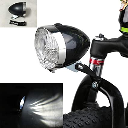 Vintage Bike 3 LED Retro Bicycle Headlight Front Light Fog Head Night Lamp USA