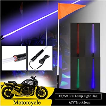Frosted Multi Color LED Whip with 20 Colors and 200 Combinations to choose from!